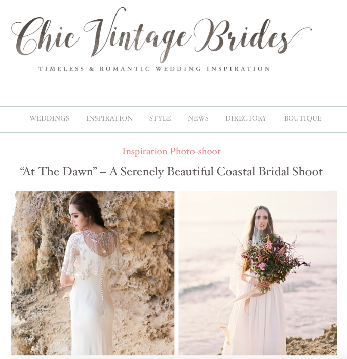 Chic Vintage Brides -Bridal Blog -Bride La Boheme Press