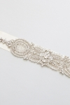 Crystal Bridal Sash -Style Barbara Handcrafted by Bride La Boheme