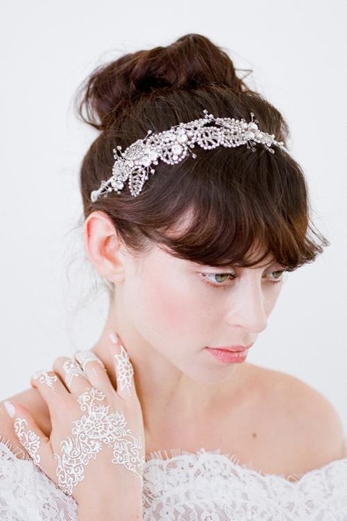 Amarantha Bridal Headpiece - Vintage Heirloom Headpieces by Bride La Boheme