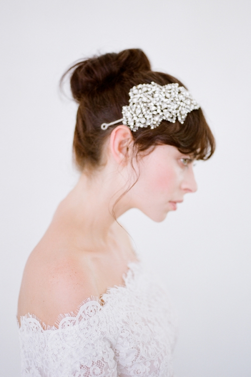 Tira Bridal Headband - Silver Heilroom Bridal Adornments by Bride La Boheme