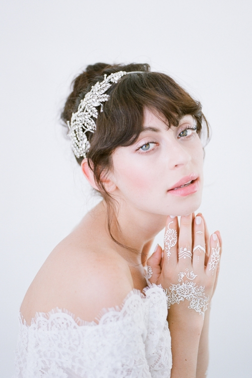 Romilly Bridal Headpiece is handcrafted from fine crystals by Bride La Boheme