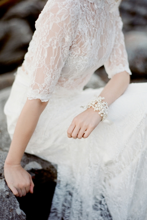 Pearls and Crystals Heirloom Wedding Adornments by Bride La Boheme