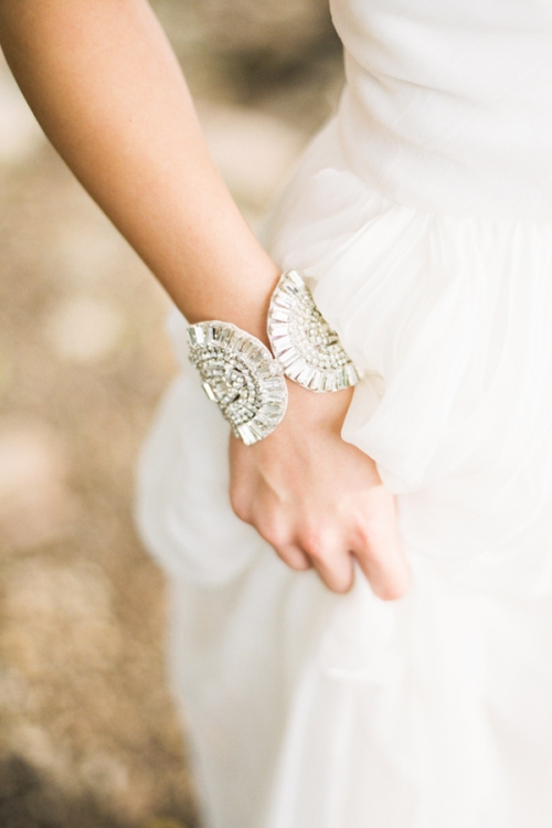 Art Deco Bridal Crystal Bracelet by Bride La Boheme