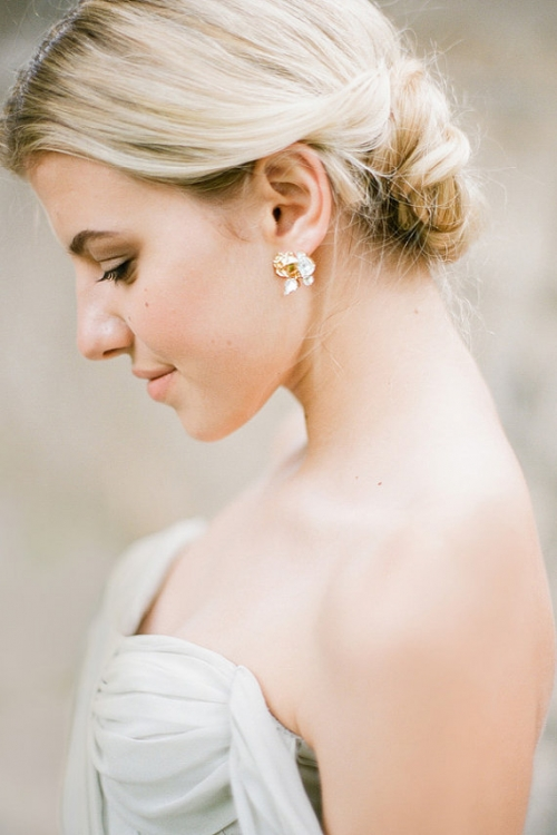 Delicate Handcrafted Bridal Earrings by Bride La Boheme