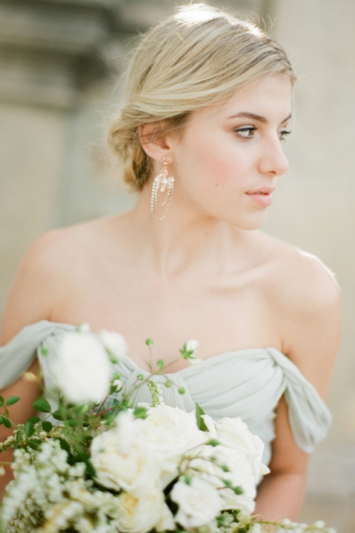 Vintage inspired Chandelier Earrings in Rose Gold by Bride La Boheme