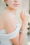 Delicate Silver Crystals Bridal Bracelet by Bride La Boheme