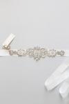 Crystal Bridal Sash -Style Petunia Handcrafted by Bride La Boheme