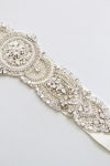 Crystal Bridal Sash -Style Virginia Handcrafted by Bride La Boheme