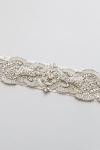 Crystal Bridal Sash -Style Rosette Handcrafted by Bride La Boheme