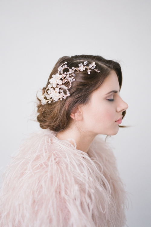 Sparkly wedding Hair Comb by Bride La Boheme