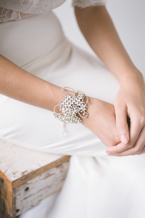 Crystal Vintage Inspired Bracelet with Crystals by bride La Boheme