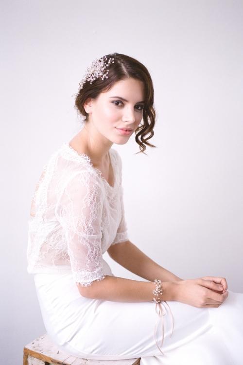 Gold Bridal Bracelet by Bride La Boheme