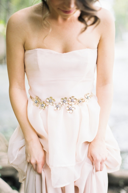 Golden Blossoms Chain Bridal Belt by Bride La Boheme