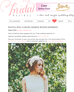 Bride La Boheme Press - Bridal Musings