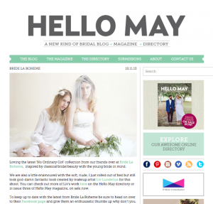 Bride La Boheme Press - Hello May