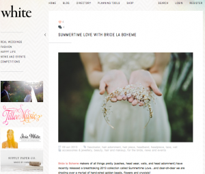 Bride La Boheme Press - White Magazine Blog