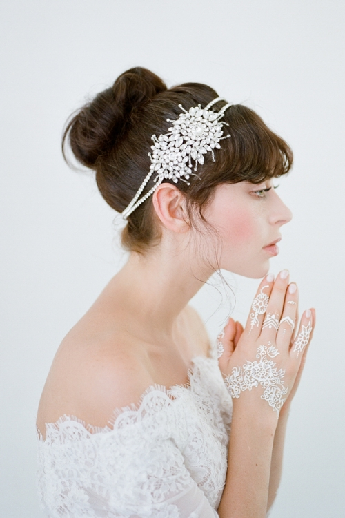 Leda Wedding Headpiece - Heirloom Crystal Headwear by Bride La Boheme