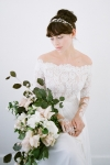 Julia Bridal Headpiece - Vintage Heirloom Headpieces by Bride La Boheme