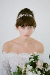Julia Gold Bridal Halo - Hair Accessory by Bride La Boheme