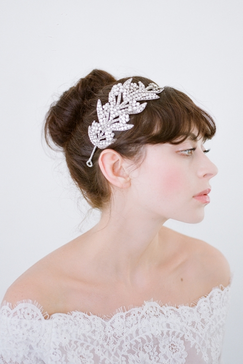 Evangeline Bridal Headpiece-Vintage inspired Wedding Adornments by Bride La Boheme