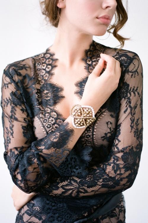 Bronze Bridal Bracelet by Bride La Boheme