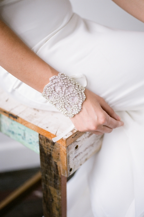 Wedding Cuff Bracelet by Bride La Boheme