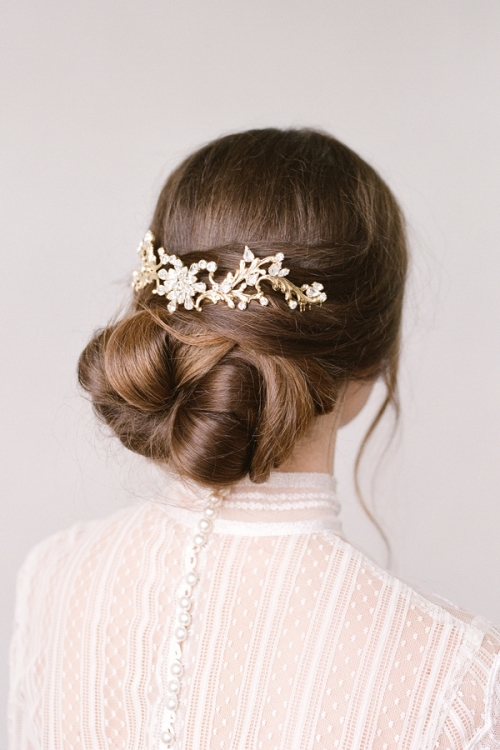 Handcrafetd Golden Luxury Hair Comb by an Australian Brand Bride La Boheme