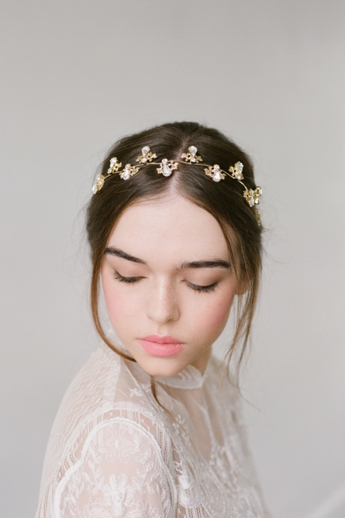 Golden Hair Wreath by Bride La Boheme