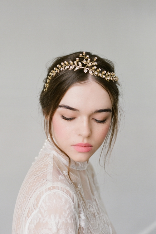 Majestic Golden Halo by Bride La Boheme
