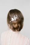 Floral Silver Hair Comb by Bride La Boheme