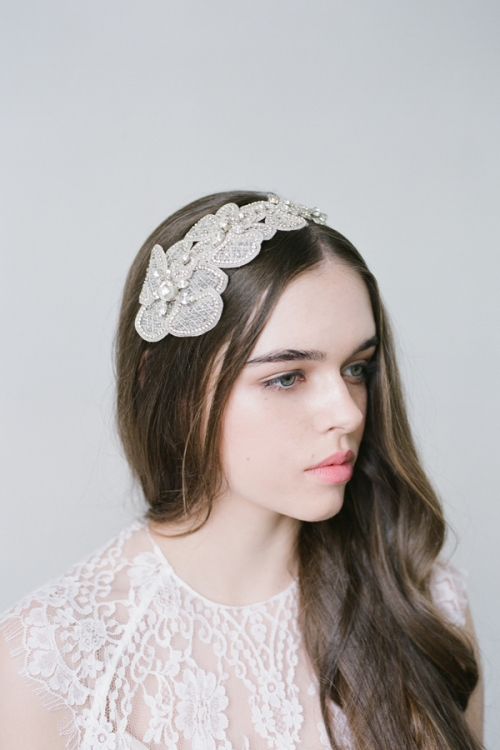 Floral Silver Headpiece by Bride La Boheme