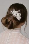 Silver Crystals and pearls Hair Comb by Bride La Boheme