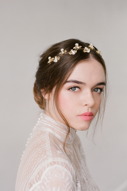Kristina Gold Crystal Bridal Hair Wreath - Bridal Headpieces ... a6a53389f26