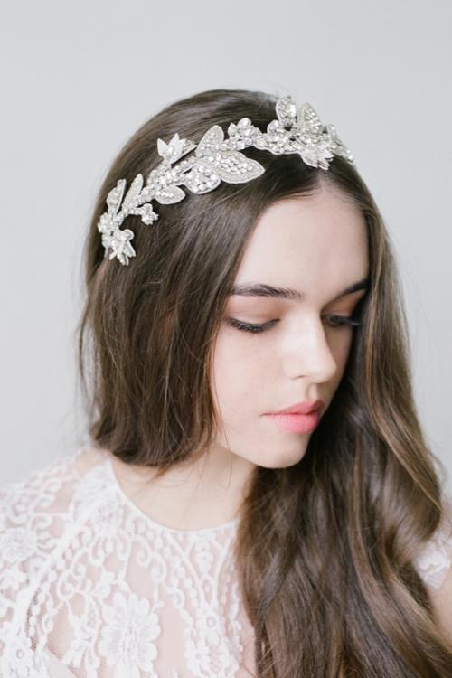 Floral Silver Headpiece by Bride La Boheme