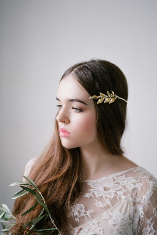 Stylish Golden Hair Accessories by Bride La Boheme
