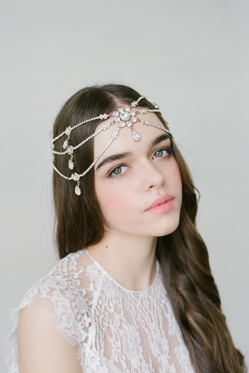 Melora Silver Boho Bridal Headpiece - Bridal Headpieces  e3c31c74bcb