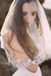 Embroidered Vintage Inspired Wedding Veil by Bride La Boheme