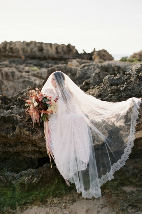 Romantic Cathedral Veil by Bride La Boheme