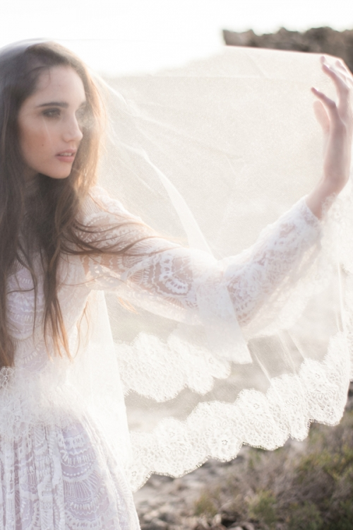 French Lace Bridal Veil by Bride La Boheme
