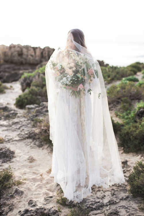 Cathedral Lace Veil by Bride La Boheme