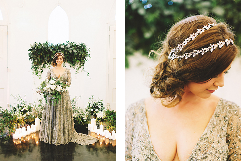 Little White Chapel-Bridal Styled Shoot featuring Bride La Boheme Wedding Adornments