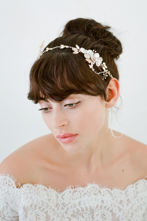 Dimitra Bridal Halo - Heirloom Bridal Accessories by Bride La Boheme
