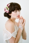 Ava Flower Headpiece Mauve - Heirloom Millinery Bridal Headpieces by Bride La Boheme