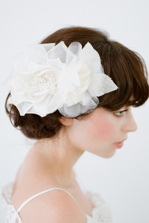 Millinery Floral Hair Piece by Bride La Boheme