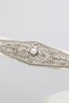 Crystal Bridal Sash -Style Irene Handcrafted by Bride La Boheme