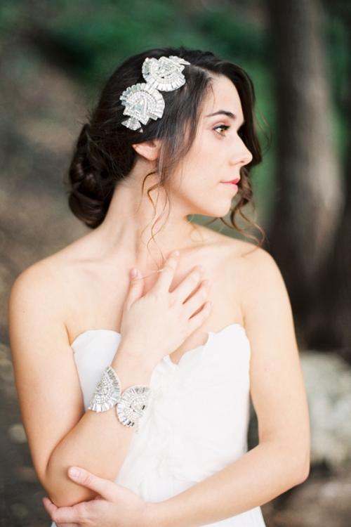 Art Deco Bridal Crystal Hair Comb by Bride La Boheme