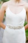 Sparkly Crystal Wedding Sash by Bride La Boheme