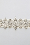 Crystal Bridal Sash -Style Sandra Handcrafted by Bride La Boheme