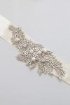Crystal Bridal Sash -Style NS9 Handcrafted by Bride La Boheme