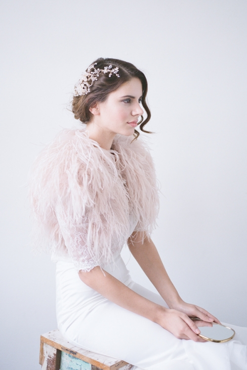 Sparkly wedding Hair Comb by Bride La Boheme